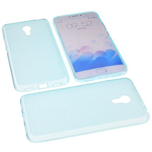 foto-kontor Tasche für Meizu M3 Note Gummi TPU Schutz Handytasche blau