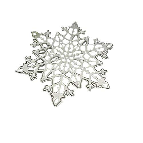 Zentto Troqueles de corte de Copo de nieve Plantillas para álbumes de recortes manualidades acero al carbono plantilla para hacer tarjetas de papel DIY Craft Plantilla