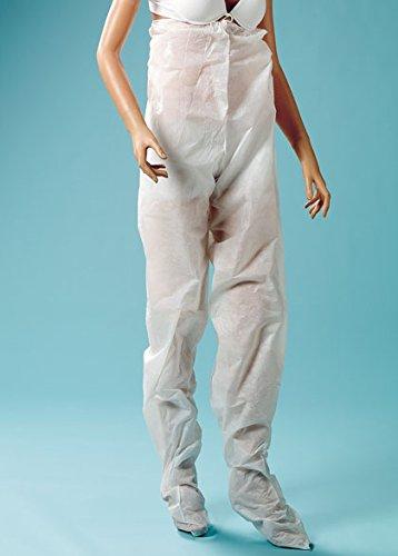 Pantalone monouso per pressoterapia in TNT traspirante - 100 pz