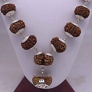 Empirical Jewels 1 to 14 Mukhi Rudraksha Mala in Nepal Original Rudraksha Mala Certified Sarva Siddha Mala Silver Plated w...