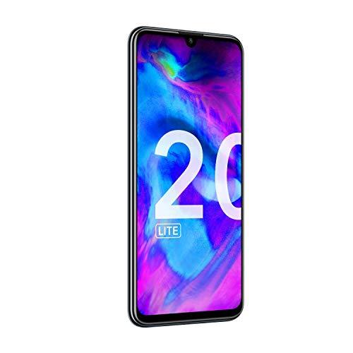 Honor 20 Lite - Smartphone Débloqué 4G (6,21 pouces - 4Go RAM - 128Go ROM- Android 9) Midnight Black [Version Française]