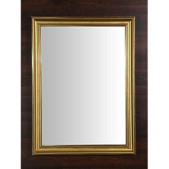 999Store Fiber Framed Decorative Wall Mirror or Bathroom Mirror Golden Green (24x18 Inches)