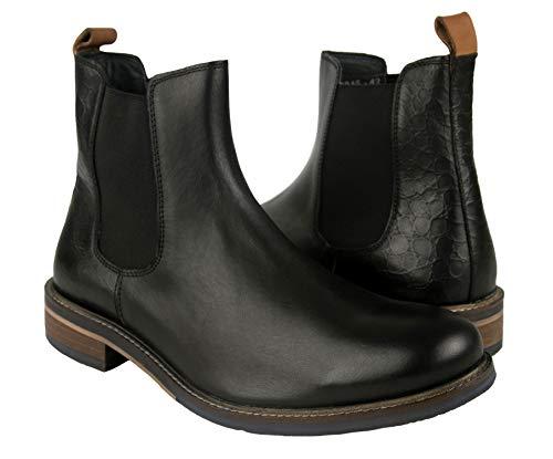 Zerimar Botas Hombre Piel | Botines Hombre| Botas Hombre Altas Cuero| Botas Hombre Altas Piel | Botines Hombre Altos | Zapatos Hombre Cuero