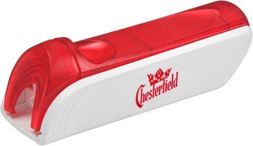 Gizeh Chesterfield Stopfer Stopfmaschine, Aluguss, Silber, 9 x 3 x 3 cm