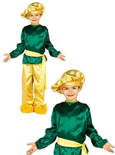 Disfraz de paje rey negro infantil 3-4 años