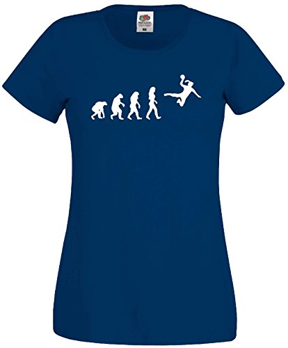 Handball Damen Evolution T-Shirt WM Shirt EM Trikotmarineblau-S
