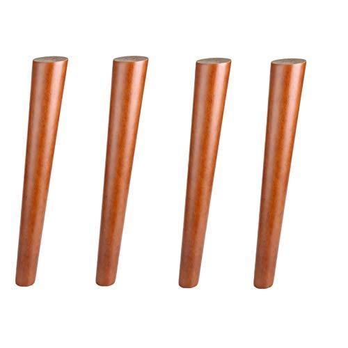 Tafelpoten, vervangende tafelpoten, massief houten meubelen Bankpoten, conische kastvoeten, voor salontafel dressoir bank bedstoel poef, walnoot, verschillende maten (tilt2cm / 4.7in)