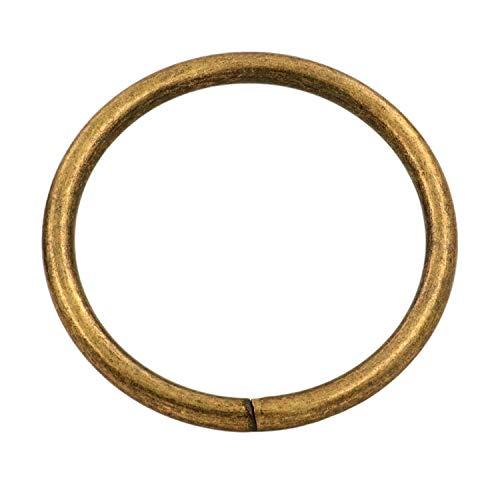 """Tianbang Bronze 2"""" Inner Diameter O Ring Non Welded Pack of 6"""