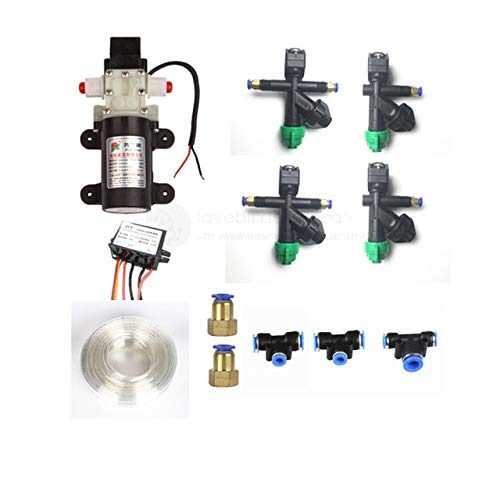 Accessories DIY 5/10/15/20KG Spray kit Water Pump, Nozzle,Pump Buck ESC,connectors, Pipes for 5L/10L/15L/20L Agriculture Drone Sprayer - (Color: Tube clamp Fixed)