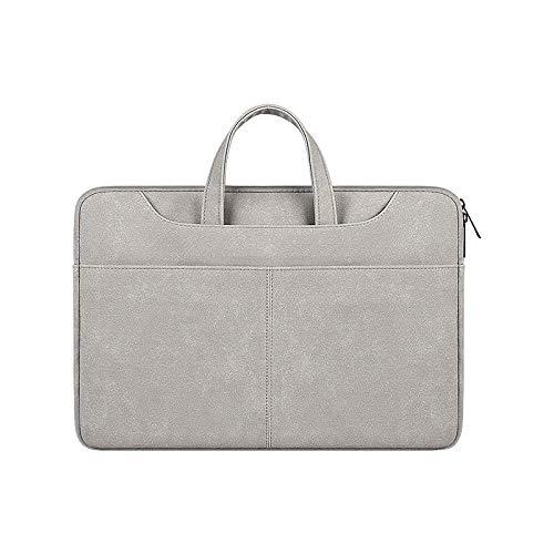 Práctico Bolso portátil de Cuero Mate para MacBook Pro 13 15 16 M1 2020 Nuevo A2337 A2179 A2338 A2141 (Color : Grey, Size : 16 Inch MacBook Pro)