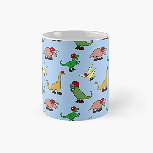 Roller Derby Dinosaurs Pattern Classic Mug Best Gift Funny Coffee Mugs 11 Oz