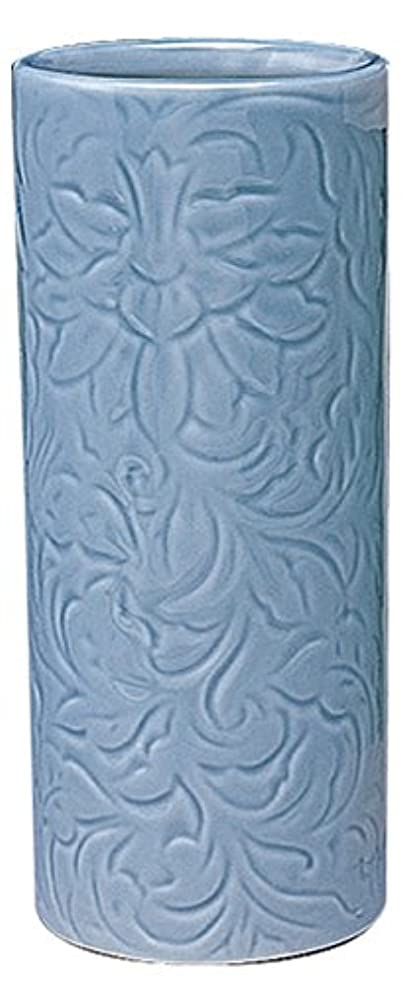 マルエス 御仏具 青磁唐草投入花瓶 7.0寸 ブルー