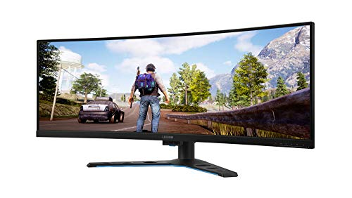 Lenovo Legion Y44w - Monitor Gaming Curvo 43.4' UHD (FreeSync Pro, 144 Hz, 4 ms, HDMI+DP+USB Type-C, Regulable en altura) Con altavoces, Color Metal Negro