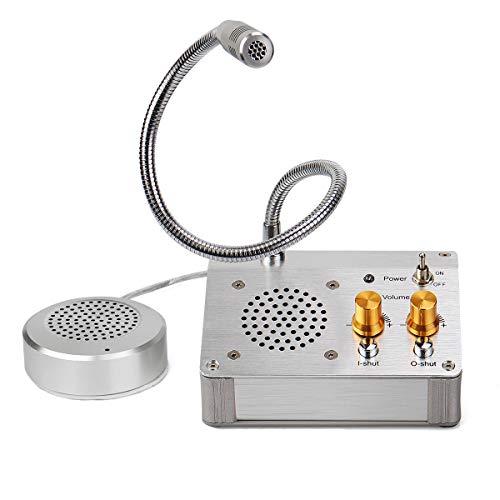 Retekess Intercomunicador de Ventanilla Interphone Altavoz de Dos Vías para Oficina Banco Hospital Contador de Boletos (Oro)