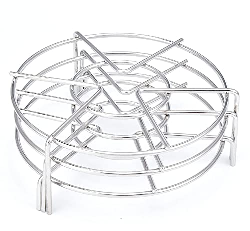 Alele Steam Rack 7Inch Trivet Stainless Steel Steaming Rack Electric Pressure Cooker steam rack Stand For Instant Pot Pressure Cooker Food Heating 3Pack
