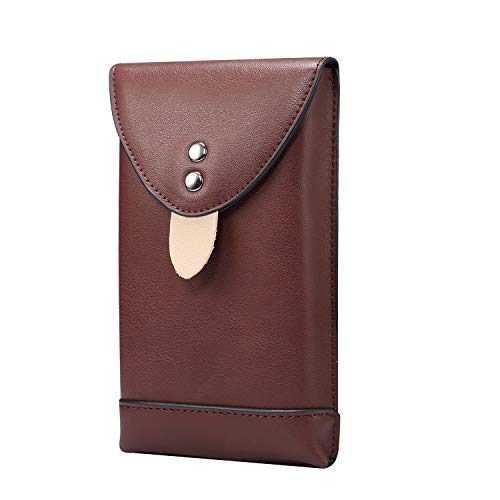 GUOQING Teléfono Clips de cinturón Película del teléfono móvil de Cuero para Samsung Galaxy S21 5G, S20, Note10, A41, Paquete de Cintura para Hombre con Clips de mosquetón para Viajes (5,5 Pulgadas)