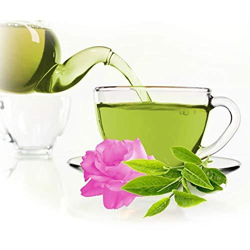 Grüner Tee Mit Rosenblume, köstlicher Tee aus Kräutern und Gewürzen