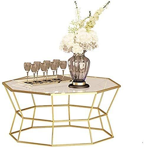 LJYY Tavolino Rotondo Tavolino Creativo Tavolino da Divano con Piano in Vetro temperato Mobili da Salotto, 56 cm