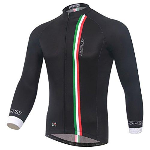 Baymate Unisexe Respirant Vêtements de Cyclisme Maillot Vélo Manches Longues L