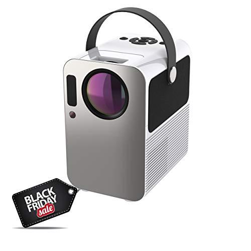 Proyector 4K, Proyector Portátil, 6000 Lúmenes, Android, Bluetooth, Soporta 1080p Full HD, Cine en Casa 300', Dolby Digital AC3, Keystone...