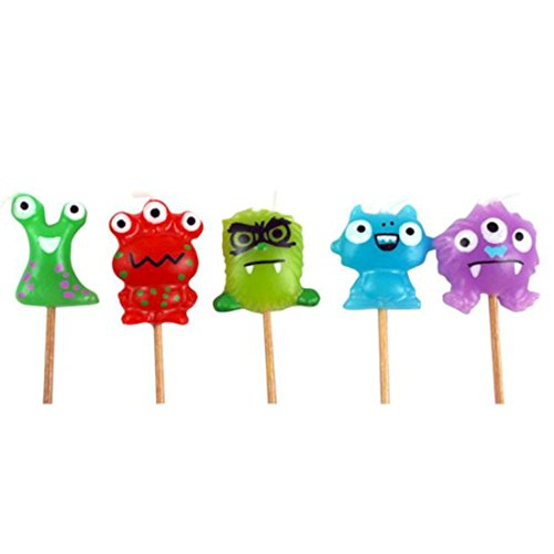 Monstre Mini Bougies Pick (pack de 5)