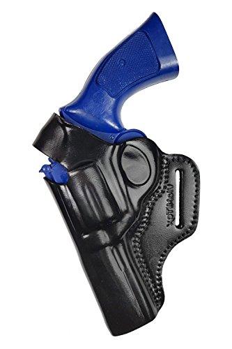 VlaMiTex R4Li Holster pour Revolver Smith and Wesson 10/19/44/66 Canon 4 Pouces, en Cuir, pour GAUCHER