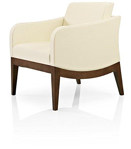 More Contract BUTACA ELLEN. Butaca de una o dos plazas de haya barnizada asiento y respaldo tapizados con tejidos a elegir