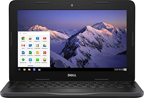 Dell Inspiron 11.6' HD Chromebook, Intel Dual-Core Celeron N3060 up to 2.48GHz, 4GB RAM, HDMI, USB 3.0, Bluetooth, 802.11ac, HD Webcam, Chrome OS - Black (32GB eMMC)