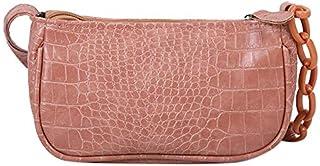Fansport Ladies Faux Leather Crossbody Bag Adjustable Chain Crossbody Purse Shoulder Bag Fake Leather Crossbody Bags Women...