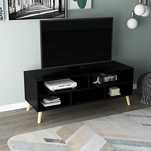soges TV Board TV Ständer Lowboard Fernsetisch aus hochwertigen Material mit 5 Stauräumen,116.5 * 40 * 43.5CM