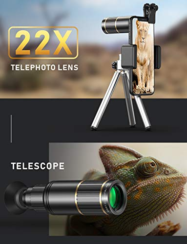 CoPedvic Phone Camera Lens Phone Lens for iPhone Samsung Pixel Android, 22X Telephoto...