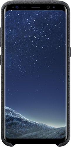 Samsung EF-XG950ASEGWW Alcantara Hülle (geeignet für Samsung S8), Silber/Grau