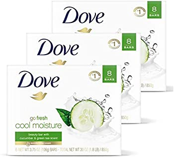 24-Count DOVE Go Fresh Beauty Bar with 1/4 Moisturizing Cream