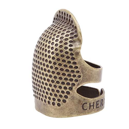 Sevenfly Nähen Fingerhut Fingerschutz Einstellbare Finger Metallschild Schutz Pin Nadeln Nähen Quilten Handwerk Werkzeuge (L)