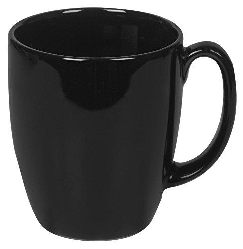 Corelle Livingware 11-Ounce Mug, Black (Pack of 6)