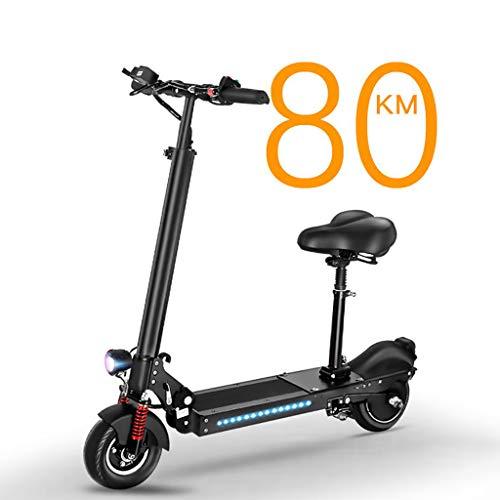 TYX-Elektro Scooter Elektroroller für Erwachsene,8-Zoll 350W Last 180kg, Höchstgeschwindigkeit 40km/h, Reichweite 80km, geeignet für Fahrten auf dem Lande auf der Straße,with seat
