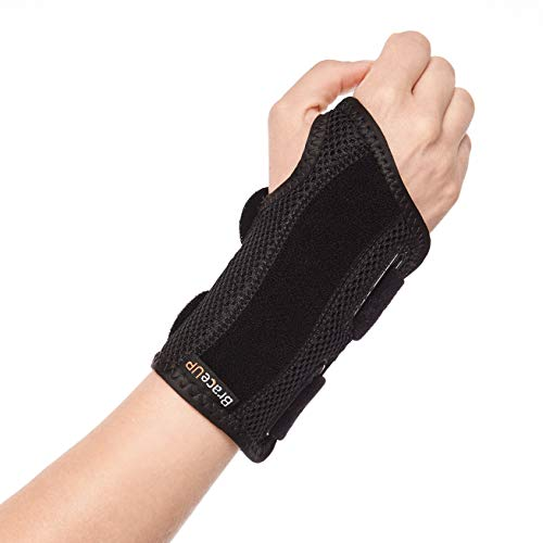 BraceUP Wrist Support Brace with Splints for Carpal Tunnel Arthritis - Right Wrist (L/XL)