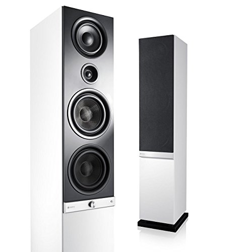 Teufel Raumfeld Stereo L WLAN-Lautsprecher weiß (Streaming, Wireless, Spotify, kabellos, Multiroom, App, drahtlos)