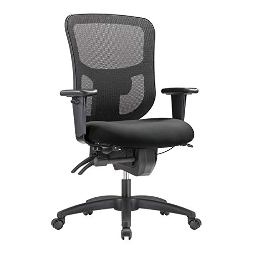 WorkPro 9500XL Big and Tall Fabric/Mesh Mid-Back Multifunction Chair, Gray/Black