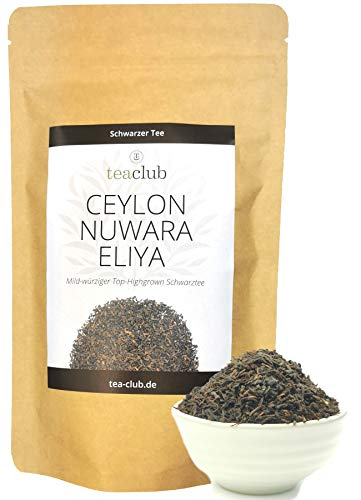 Ceylon Nuwara Eliya Schwarzer Tee Lose 200g Sri Lanka Top-Highgrown, Fruchtig-Würziger Schwarztee, Tea-Club Black Tea