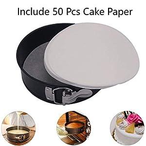 """Steamer Basket, Egg Rack Holder, 7"""" Non-stick Springform Cake Pan, 50 Pcs Cake Paper for Instant Pot Accessories, Vegetable Food Steamer Rack. Fit Pot 5,6,8 qt Pressure Cooker, Stainless Steel, 4 Pcs"""