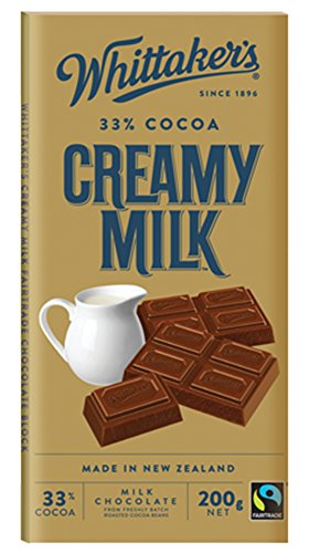Whittaker's Chocolate Block 200g (Made in New Zealand) (Creamy Milk)