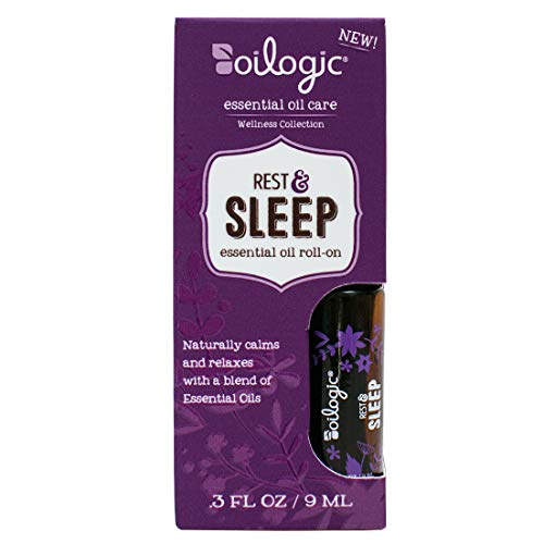 Oilogic Rest and Sleep Essential Oil Roll-On - for Adults and Children 12 and Older - Naturally Calms and Relaxes with a Blend of Essential Oils - 9ml (0.3 fl oz)