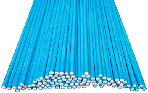 Buy Thicker! Sweetheme 6-inch 100 Ct. Blue Lollipop Sticks, Food Grade Paper, for Desserts like Cand...