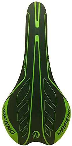 JZTOL Cómodo Bicicleta De Montaña Sillín Touring Saddle Trekking Road Bike Bicicletas Ciudad Bicicleta Sillín (Color : Green)