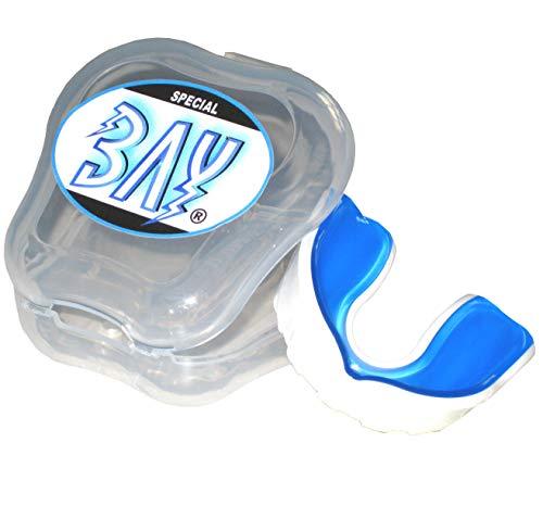 BAY® PRO LINE Kinder CE - MMA - ZAHNSCHUTZ - weiß mit belüfteter Box, Sport Mundschutz, Zahnschützer, Mundschützer, Kids JR Junior