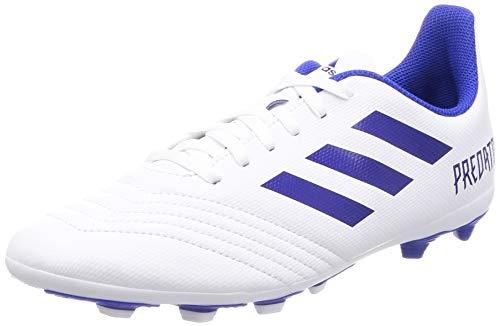 adidas Unisex Kinder Predator 19.4 FxG Fußballschuhe, Weiß (Footwear White/Bold Blue/Bold Blue 0), 34 EU