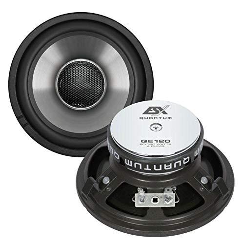 ESX QE120 2-Wege 160 W Oval Auto Lautsprecher (2-Wege, 160 W, 80 W, 4 Ohm, Neodym)