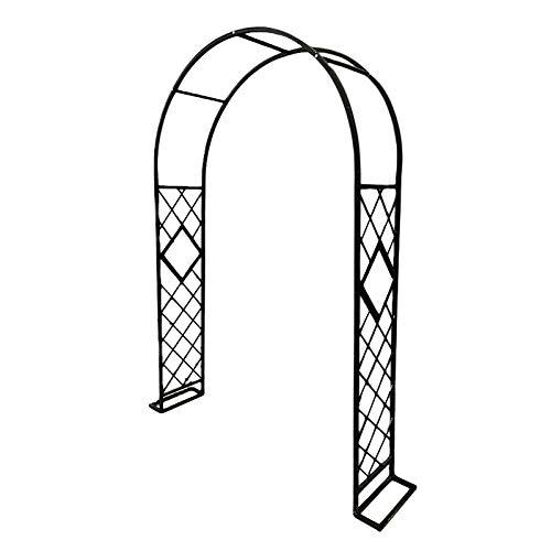 Arco de Rosas Jardín Decoración Enrejado Pérgola Arco para Trepadoras Blanco, Negro, Verde Oscuro, Bronce, Arco de Jardin Arco para Enredaderas 140x230x40cm