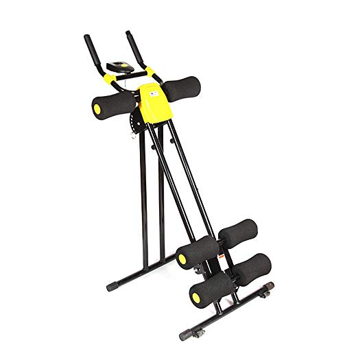 Z&HA Faltbarer Bauchtrainer, Ab Vertikaler 5-Minuten-Shaper-Taillentrainer Kerntoner Ab Cruncher-Fitnessgerät mit LED-Zähler